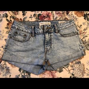 Bullhead Low Rise Jean Shorts Juniors Size 3
